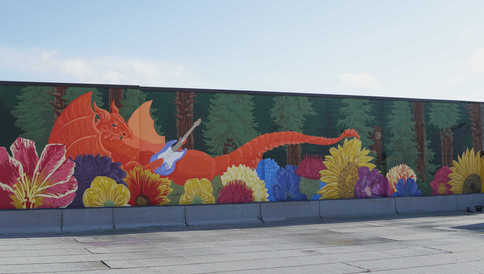 Jimi Hendrix Dragon Mural