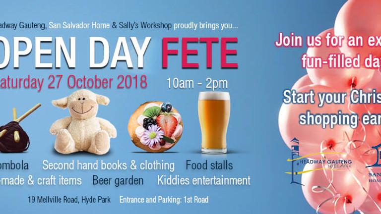 Open Day Fete - Headway Gauteng, San Salvador Home & Sally's Workshop