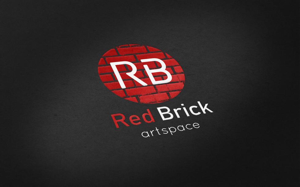 Red Brick Final Realistic Logo Mock-Ups.