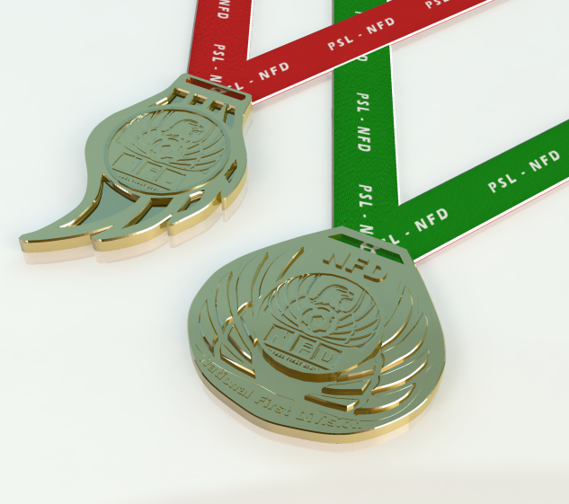 NFD Medals - 3D Modelling, Texturing and Lighting