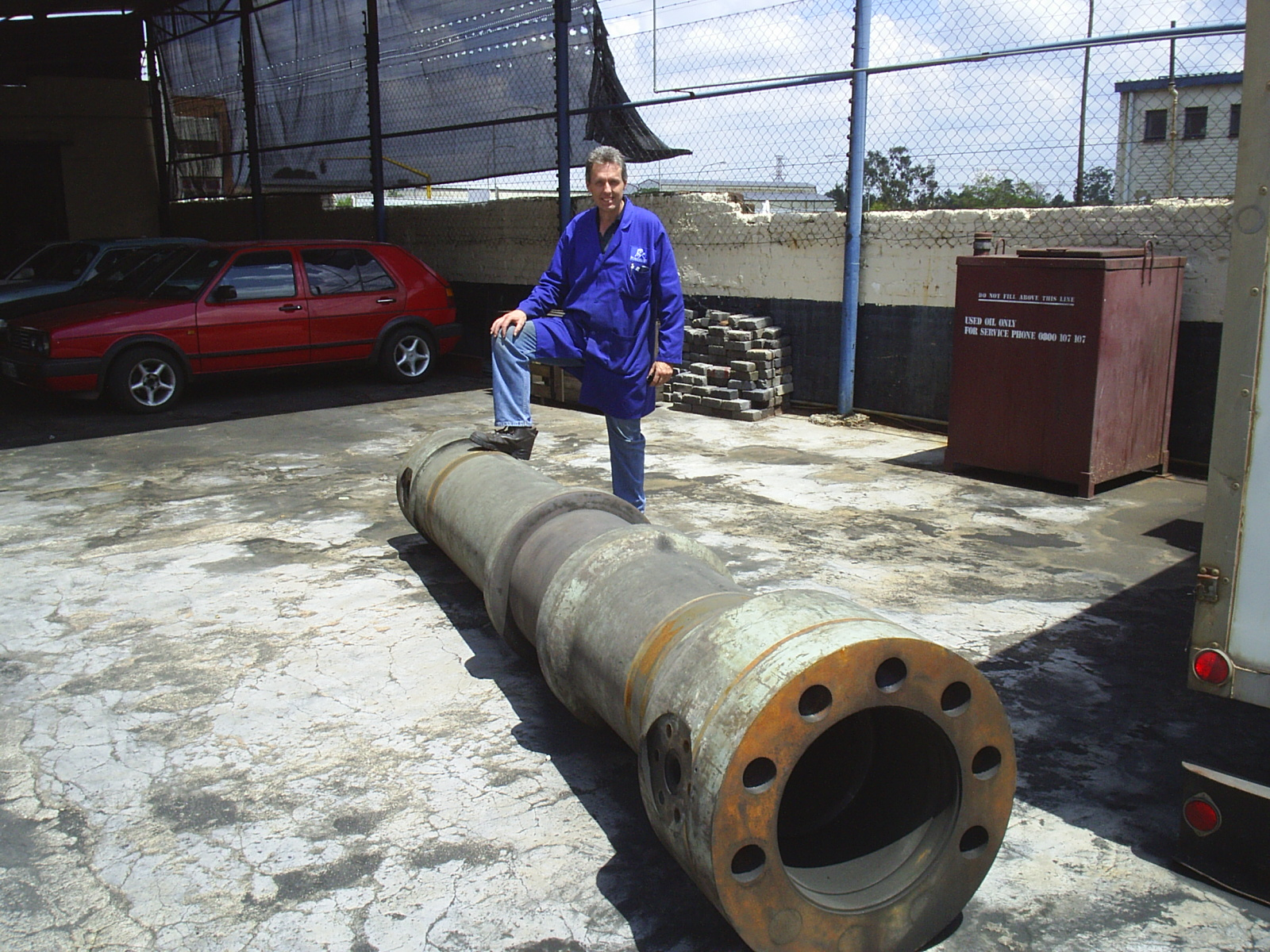 Gary with Large Pipe