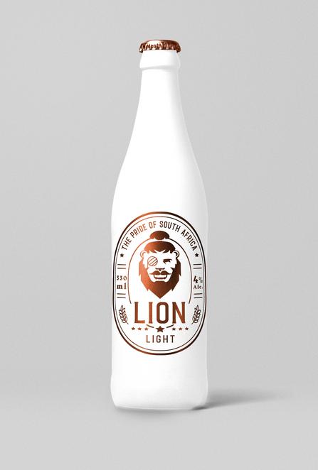 Logo 3 - Hipster Lion Bronze White Light