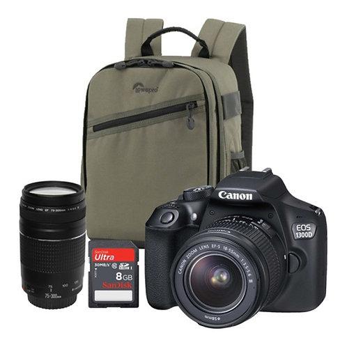 Canon Eos Camera 1300D Dc Twin Bundle