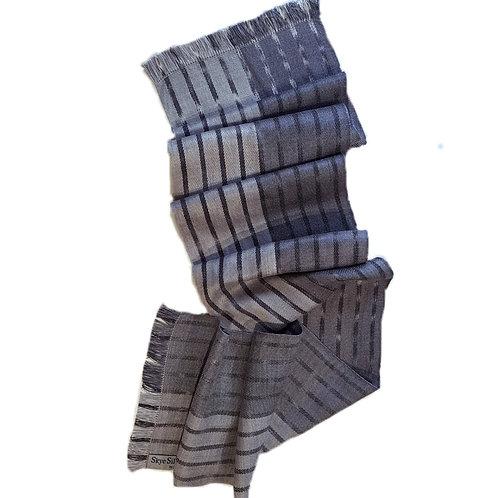 Winter Mist - Misty Isle Collection Handwoven Silk Scarf