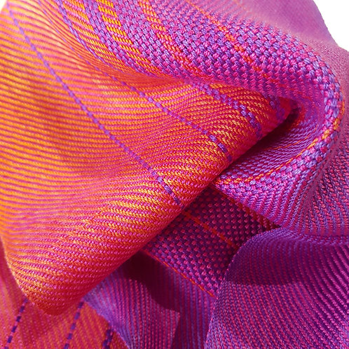 Fuchsia Flame Sky - Sunset Collection Handwoven Silk Scarf