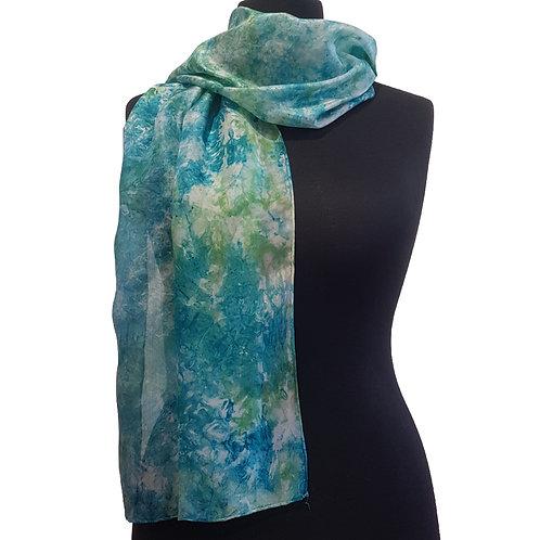 Green Croft Hand Dyed Silk Fabric Scarf