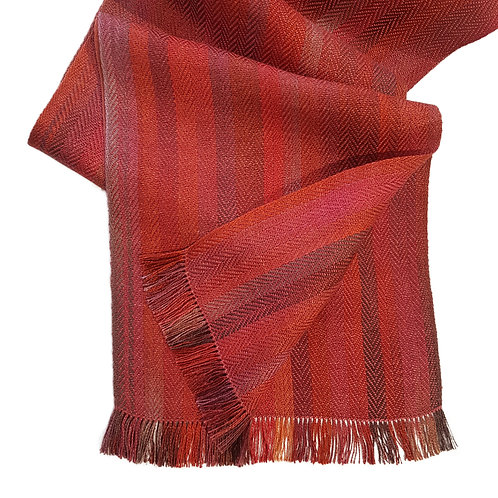 Autumn Russet - Croft Collection Handwoven Silk Scarf