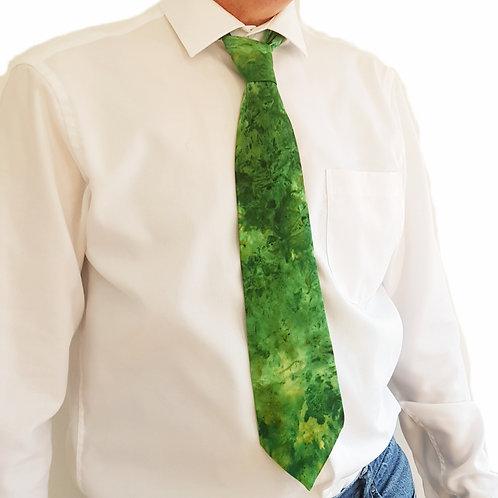 Moss Silk Tie - Skye Clouds Design
