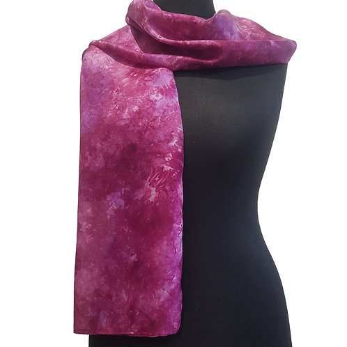 Burgundy  Hand Dyed Silk Fabric Scarf