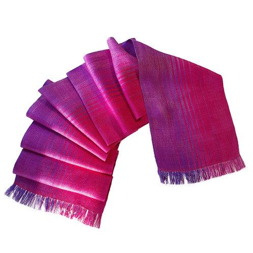 Fuchsia Sky - Sunset Collection Handwoven Silk Scarf