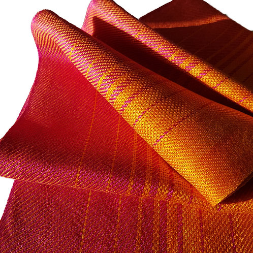 Amber Sky - Sunset Collection Handwoven Silk Scarf