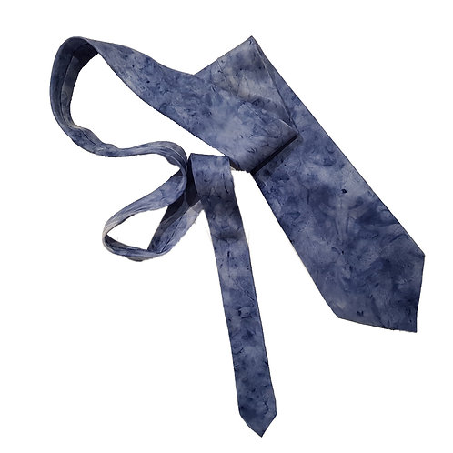 Blue Slate Silk Tie - Skye Clouds Design