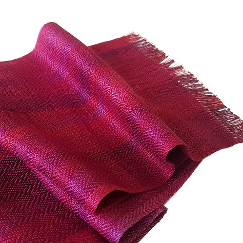 Berries - Croft Collection Handwoven Silk Scarf