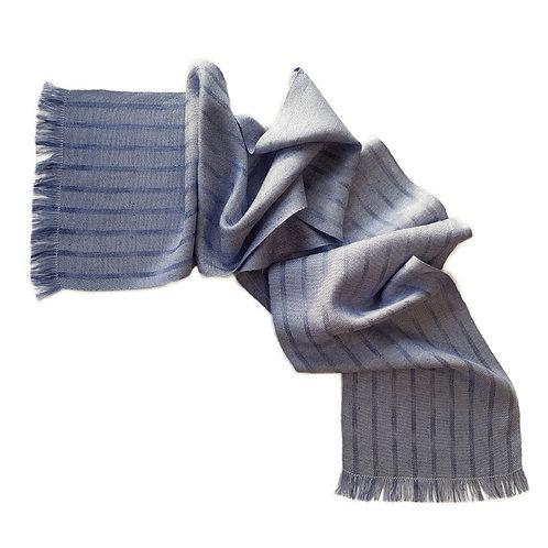 Winter Loch - Misty Isle Collection Handwoven Silk Scarf