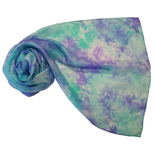 Jade Violet Hand Dyed Silk Fabric Scarf