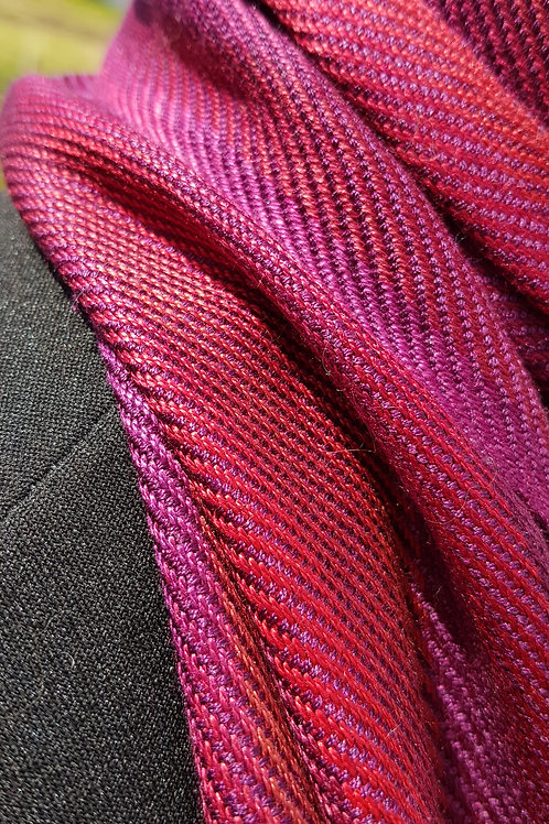 Plum Wine Handwoven Silk Scarf