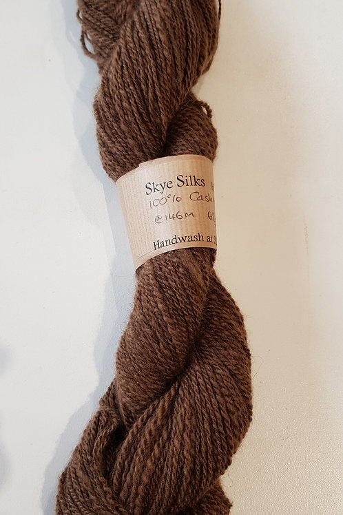 Dark Brown Cashmere Handspun