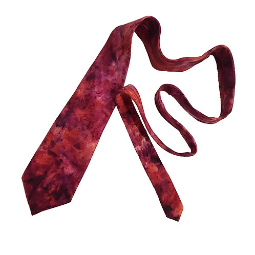Burgundy Rust Silk Tie - Skye Clouds Design