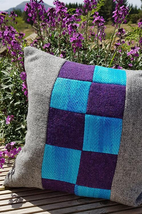 Harris Tweed and Silk/Wool Cushion