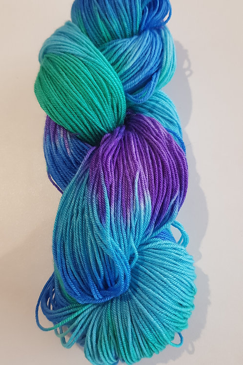 4 Ply Hand Dyed Yarn - Mermaid