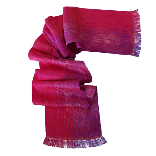 Magenta Sky - Sunset Collection Handwoven Silk Scarf