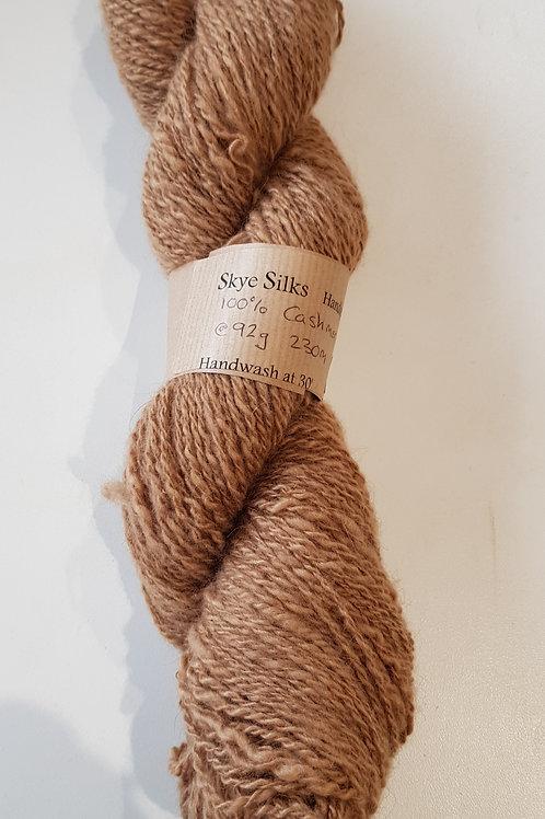 Brown Cashmere Handspun Yarn