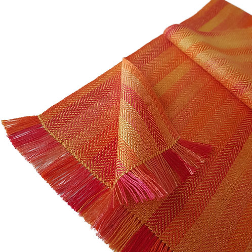 Sunshine Beech - Croft Collection Handwoven Silk Scarf