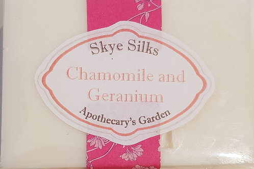 Chamomile and Geranium Soap with Silk