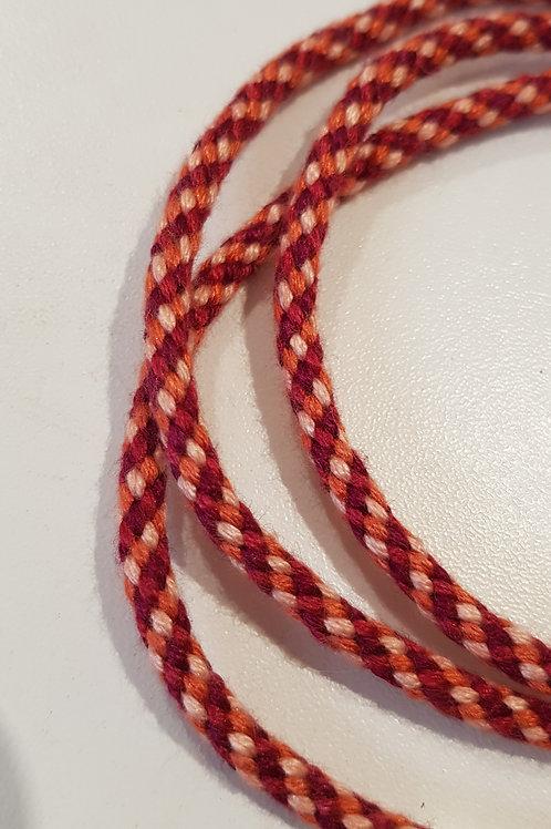 Burgundy Rust Multicolour Spiral Glasses Lanyard
