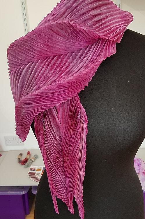 Soft Heather Arashi Shibori Silk Scarf