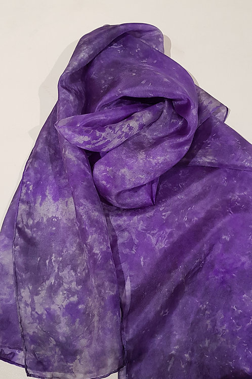 The Violet Hour Hand Dyed Silk Fabric Scarf