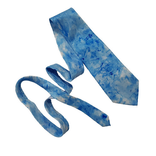 Blue Silk Tie - Skye Clouds Design