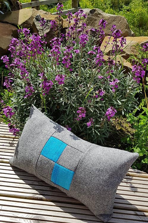 Harris Tweed and Silk/Wool Long Cushion
