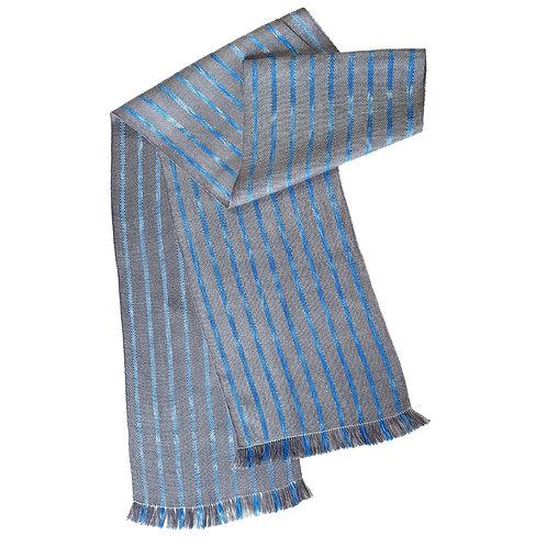 Steel Sky - Misty Isle Collection Handwoven Silk Scarf