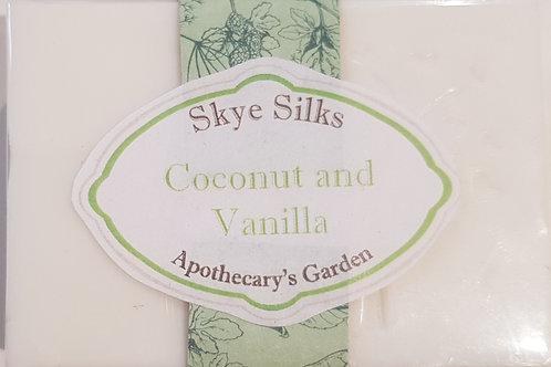 Coconut and Vanilla Soap with Silk