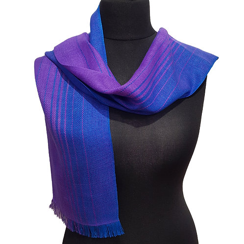Violet Sky - Sunset Collection Handwoven Silk Scarf