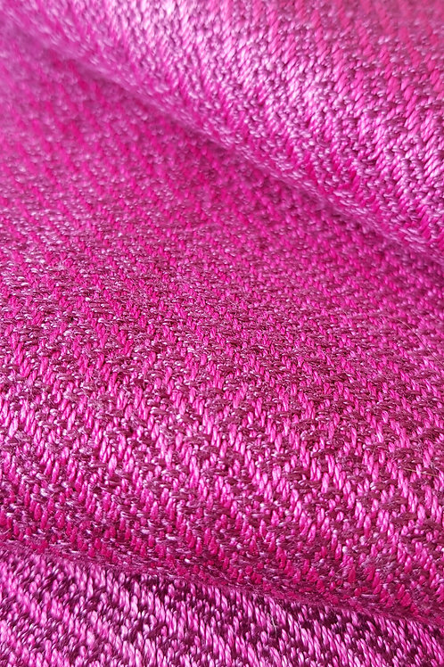 Pink Grey Handwoven Silk Scarf