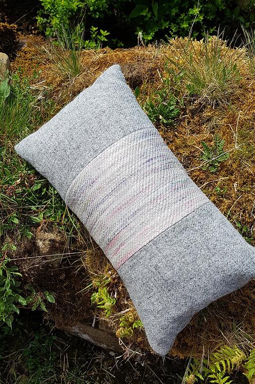 Harris Tweed and Silk Long Cushion