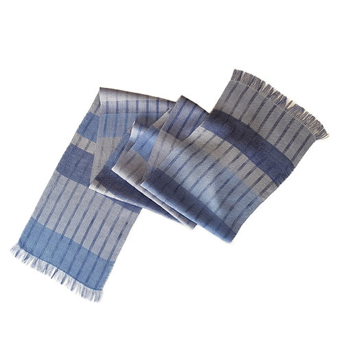 Shades of Misty Loch - Misty Isle Collection Handwoven Silk Scarf