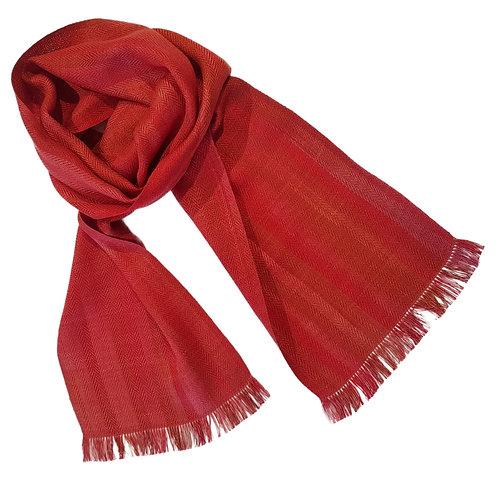 Sunset Beech - Croft Collection Handwoven Silk Scarf