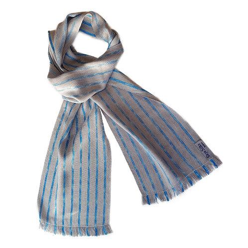 Misty Sky - Misty Isle Collection Handwoven Silk Scarf