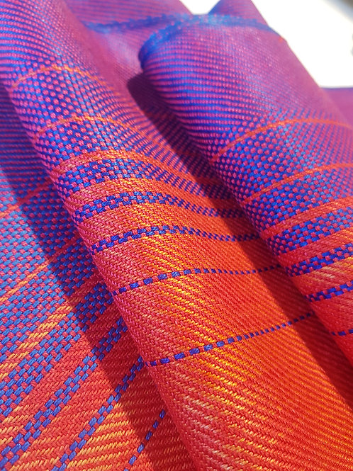 Blue Flame Sky - Sunset Collection Handwoven Silk Scarf