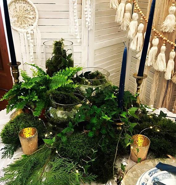 Woodland themed wedding, miniature garde