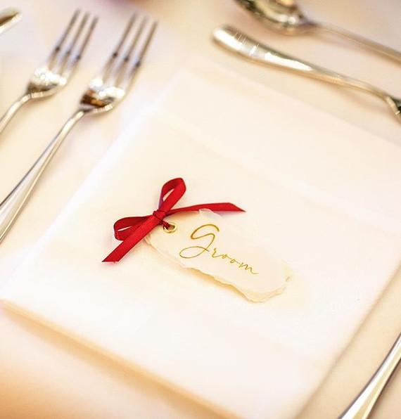 Bespoke place cards. #weddinginspiration