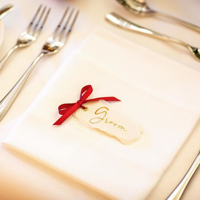 Bespoke place cards. #weddinginspiration