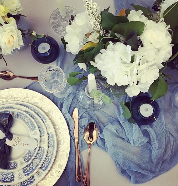 I loved creating this wedding table sett