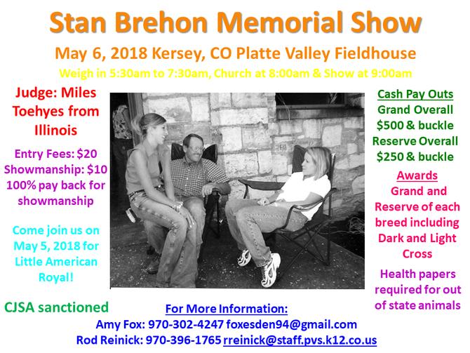 Stan Brehon Memorial Show- May 6, 2018