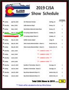 2019 CJSA Schedule