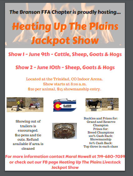Heating Up The Plains Jackpot Show- June 9 & 10,2018