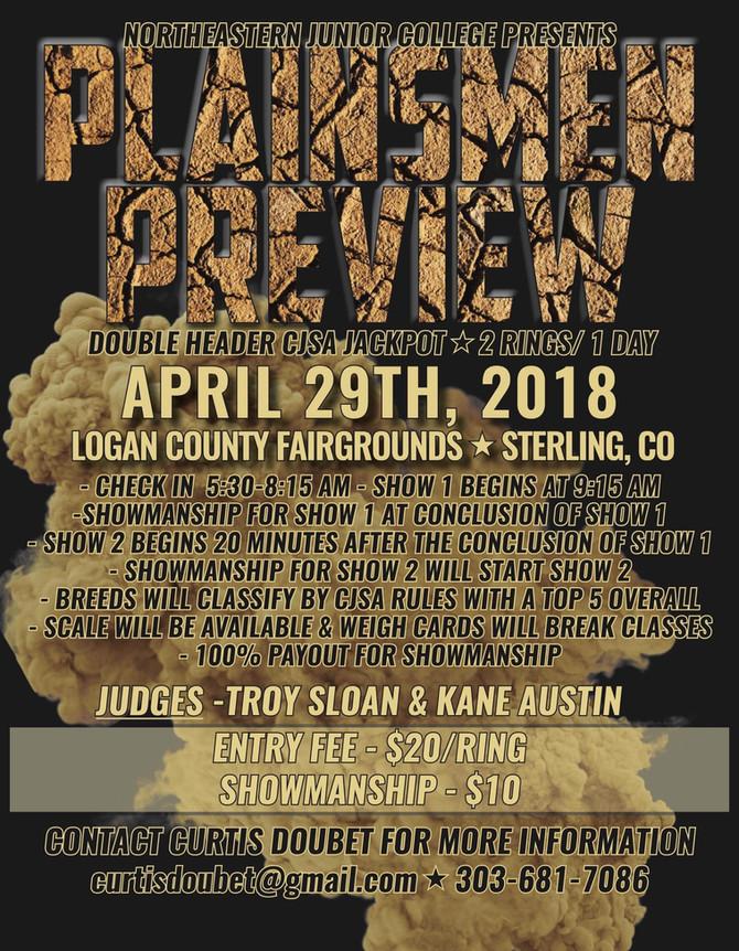 NJC Plainsmen Preview - April 29, 2018